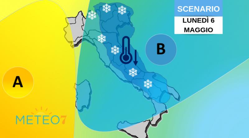 meteo italia freddo anomalo e neve