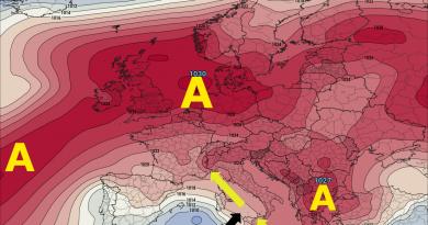 METEO sinottica: fase ANTICICLONICA sull'Italia ma non durerà
