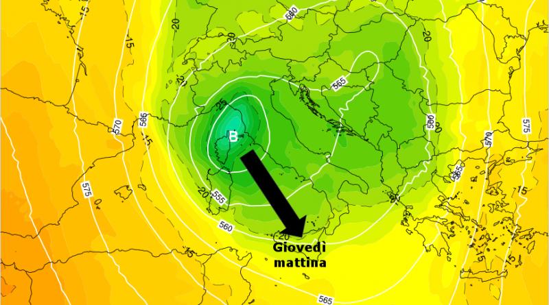Geopotenziali meteo Italia