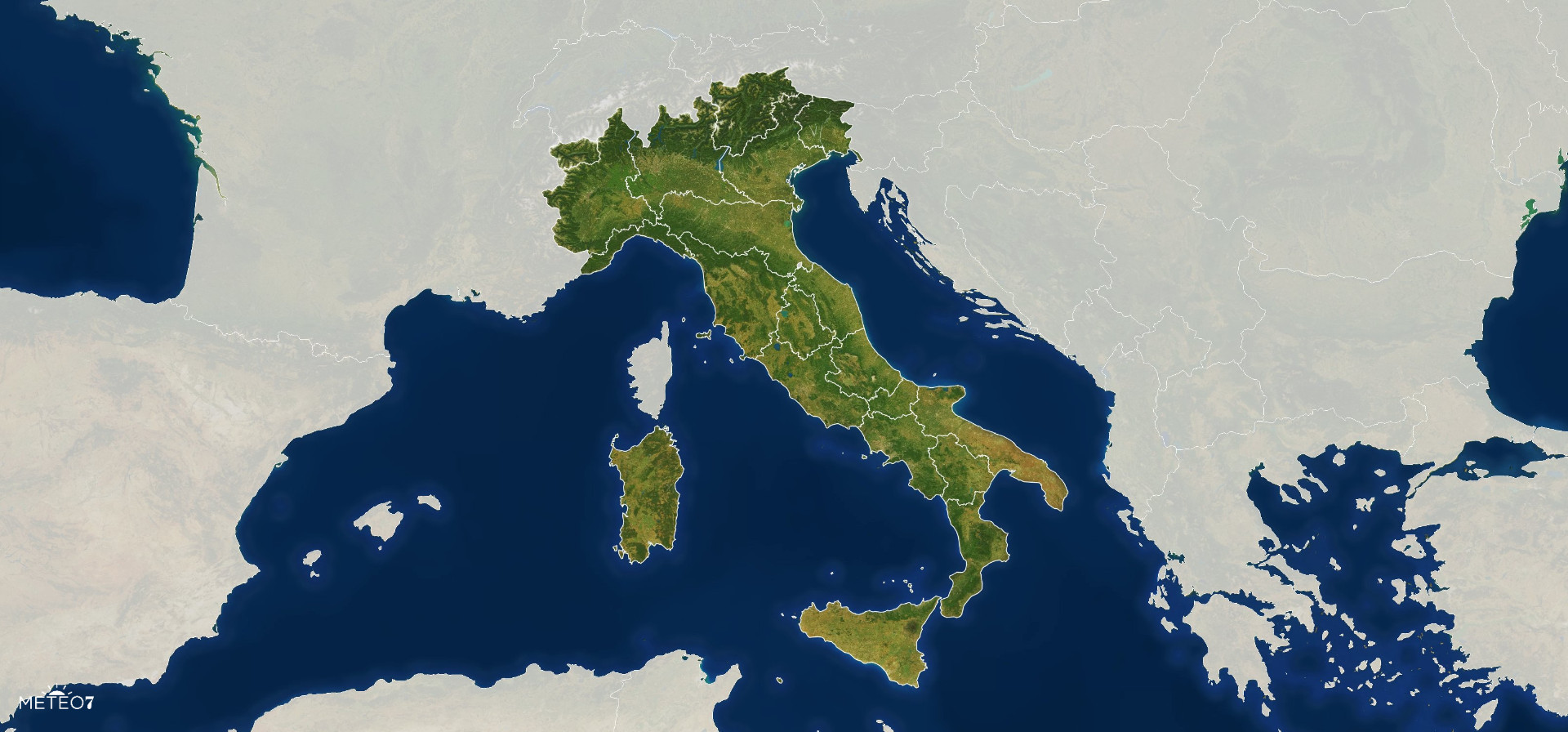 Meteo Italia Cartina.Meteo Italia Previsioni Per I Prossimi Giorni Meteo7