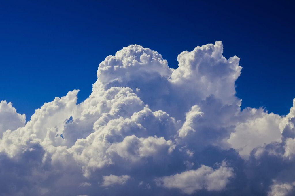 Fotografia che rappresenta l'attività cumuliforme.