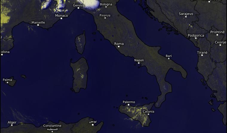 immagine satellitare meteo italia