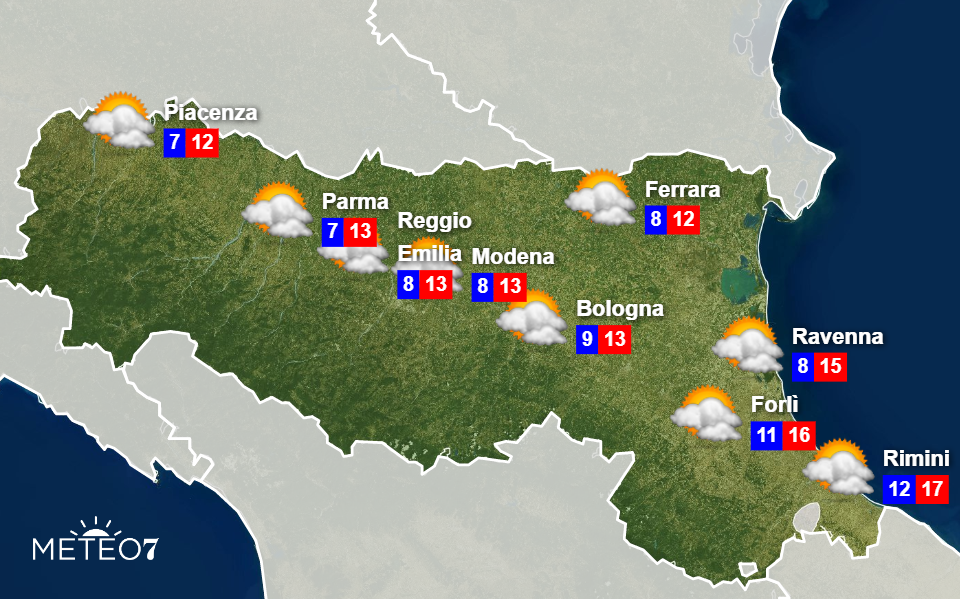 Meteo Emilia Romagna Giovedì 28 Novembre 2019