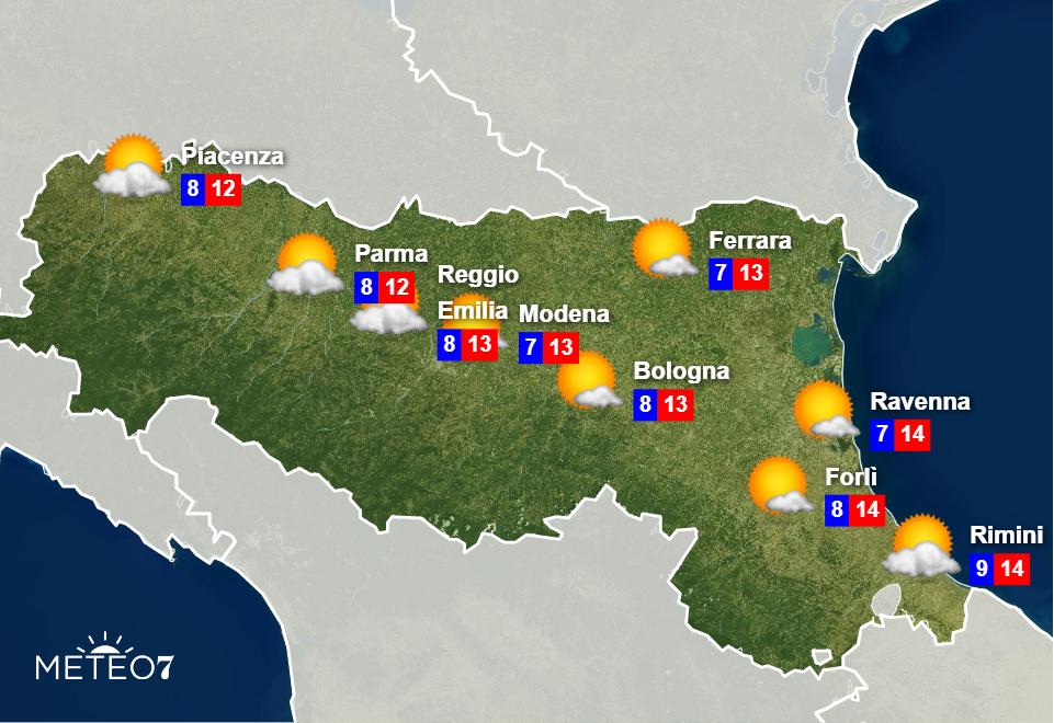 Meteo Emilia Romagna Martedì 26 Novembre 2019