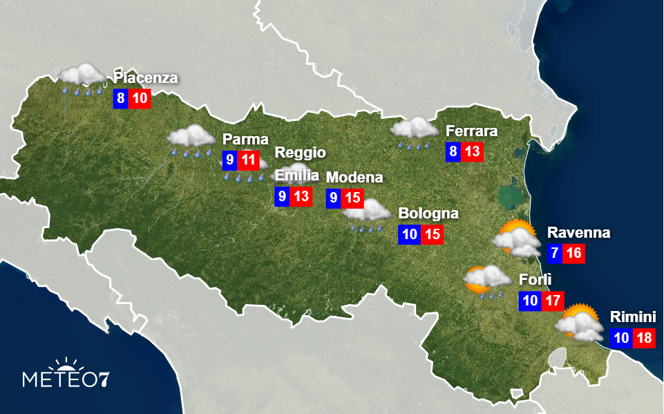 Meteo Emilia Romagna Mercoledì 27 Novembre 2019
