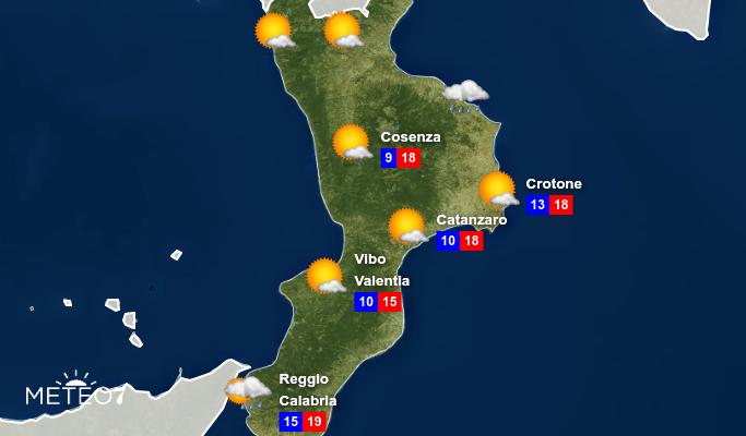 Previsioni Calabria Martedì 26 Novembre 2019