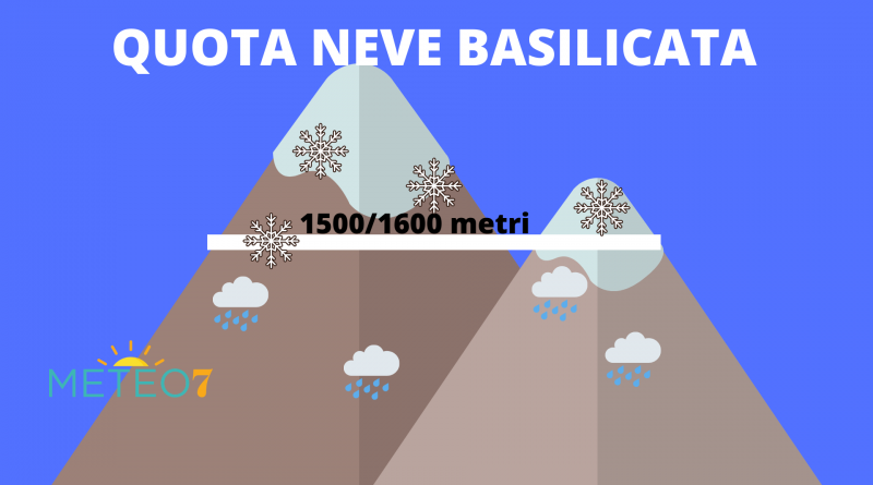 quota neve Basilicata domenica 10 novembre 2019