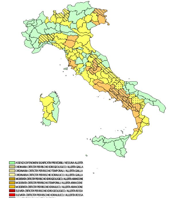 Allerte Meteo Italia Sabato 21 Dicembre 2019