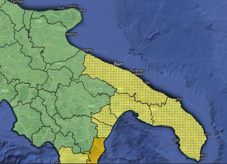 Allerte Meteo Puglia per Giovedì 5 Dicembre 2019