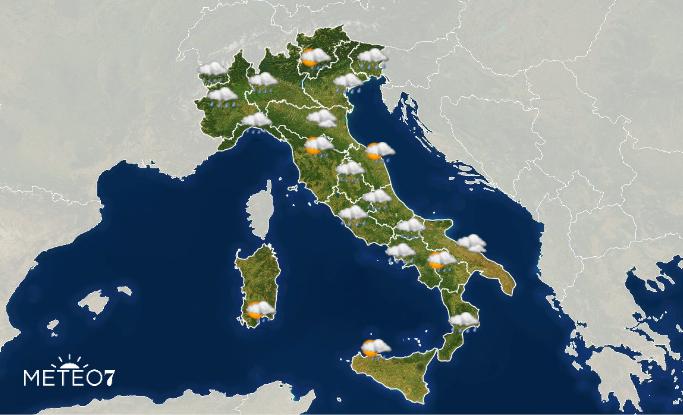 Previsioni Italia Giovedì 19 Dicembre 2019
