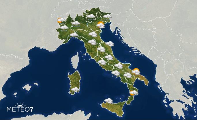 Previsioni Italia Mercoledì 18 Dicembre 2019