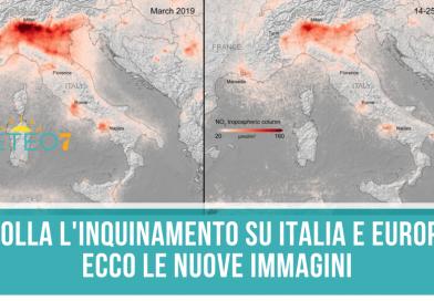 Coronavirus e Ambiente ecco le NUOVE immagini satellitari, CROLLA l'inquinamento su Italia e Europa