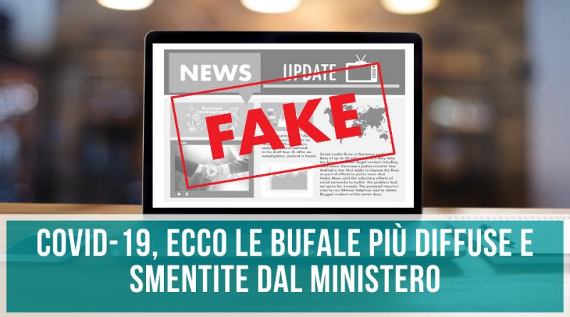 Fake News Covid-19 ecco le bufale più diffuse e smentite dal ministero