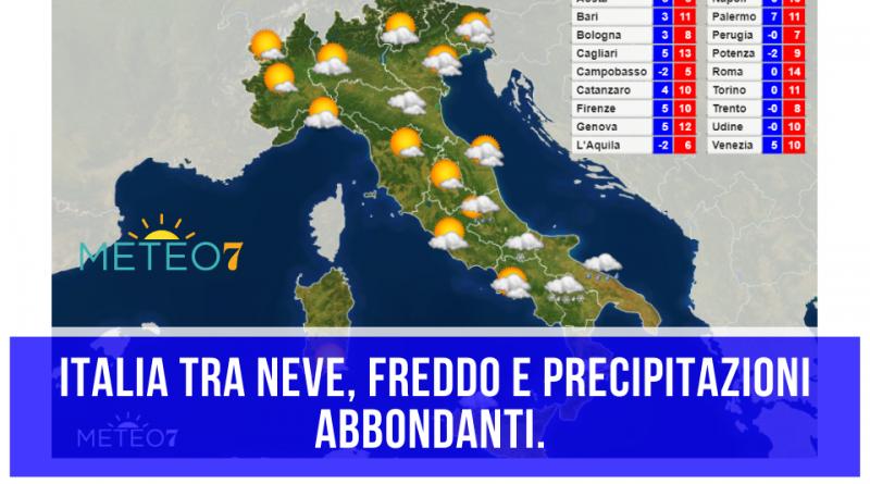 METEO Italia Martedì 24 e Mercoledì 25 Marzo 2020 tra NEVE, freddo e precipitazioni ABBONDANTI