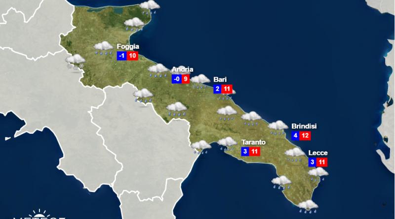 Meteo Puglia Mercoledì 25 Marzo 2020