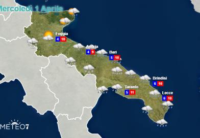 METEO Puglia: FREDDO, NEVE, PIOGGIA, ALLERTA METEO gialla per Martedì 01 Aprile