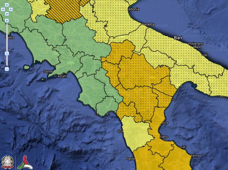 Allerta Meteo arancione Basilicata 26 Marzo 2020