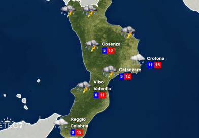 METEO Calabria: FREDDO IN ARRIVO, allerta meteo GIALLA per Mercoledì 01 Aprile 2020