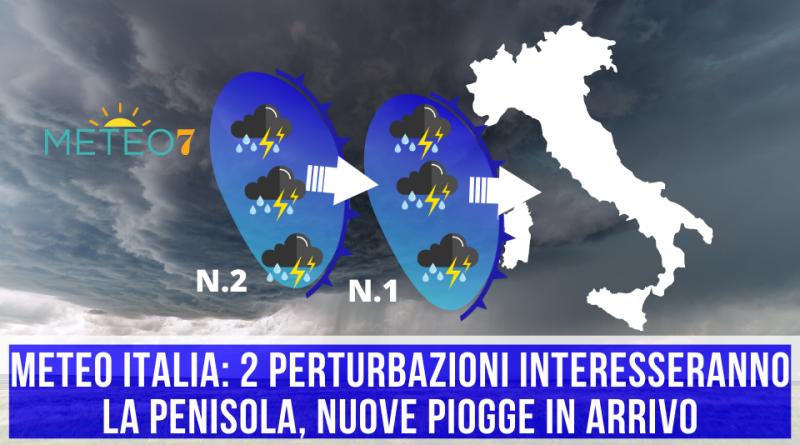 METEO Italia 2 PERTURBAZIONI interesseranno la Penisola, nuove PIOGGE in arrivo