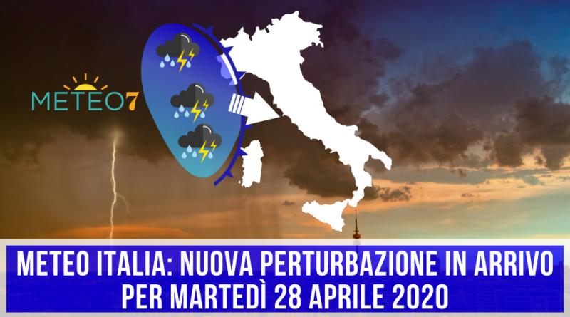 METEO Italia nuova PERTURBAZIONE in arrivo per Martedì 28 Aprile 2020