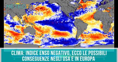 Clima indice ENSO negativo, ecco le possibili conseguenze negli USA e in Europa
