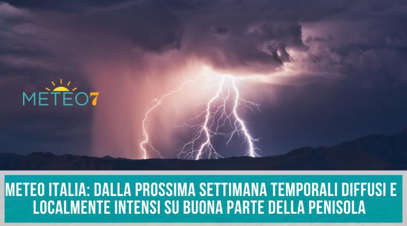 METEO Italia dalla PROSSIMA settimana TEMPORALI diffusi e localmente INTENSI su buona parte della PENISOLA