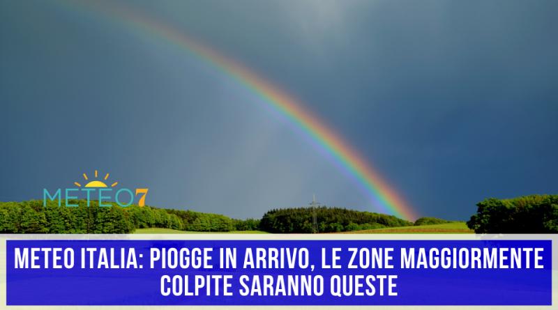 METEO Italia PIOGGE in arrivo, le ZONE maggiormente colpite saranno QUESTE