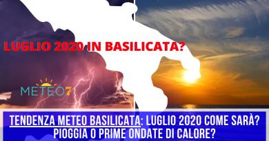 TENDENZA METEO Basilicata Luglio 2020 come sarà Pioggia o prime ondate di calore